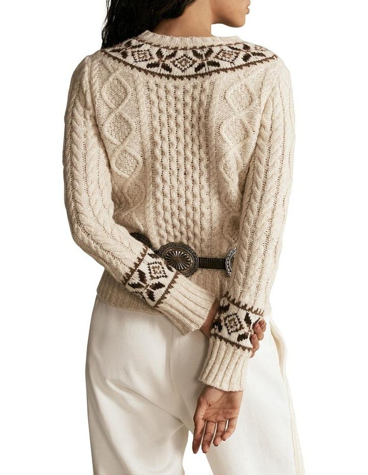 Fair Isle Aran-Knit Sweater image 2