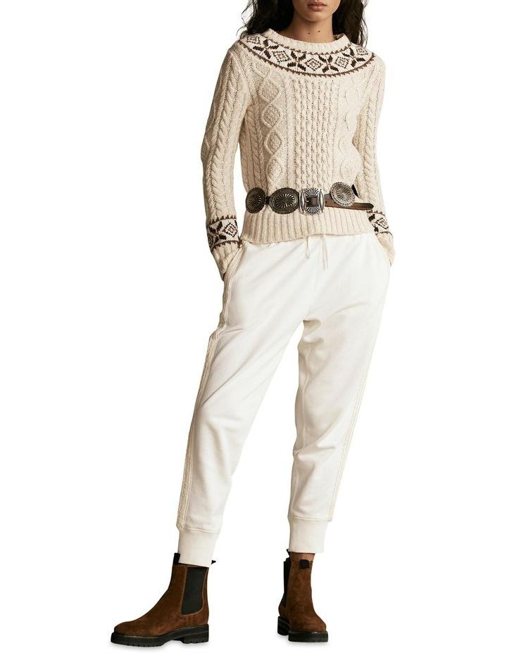 Fair Isle Aran-Knit Sweater image 3