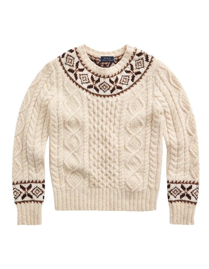 Fair Isle Aran-Knit Sweater image 4