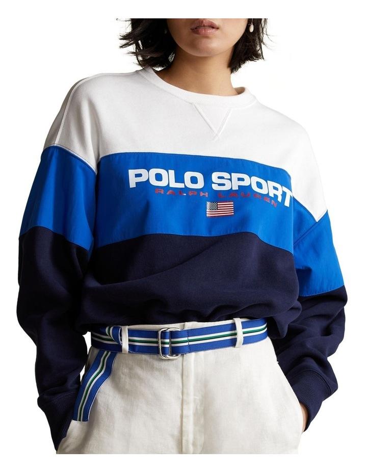 Color-Blocked Polo Sport Sweatshirt image 1
