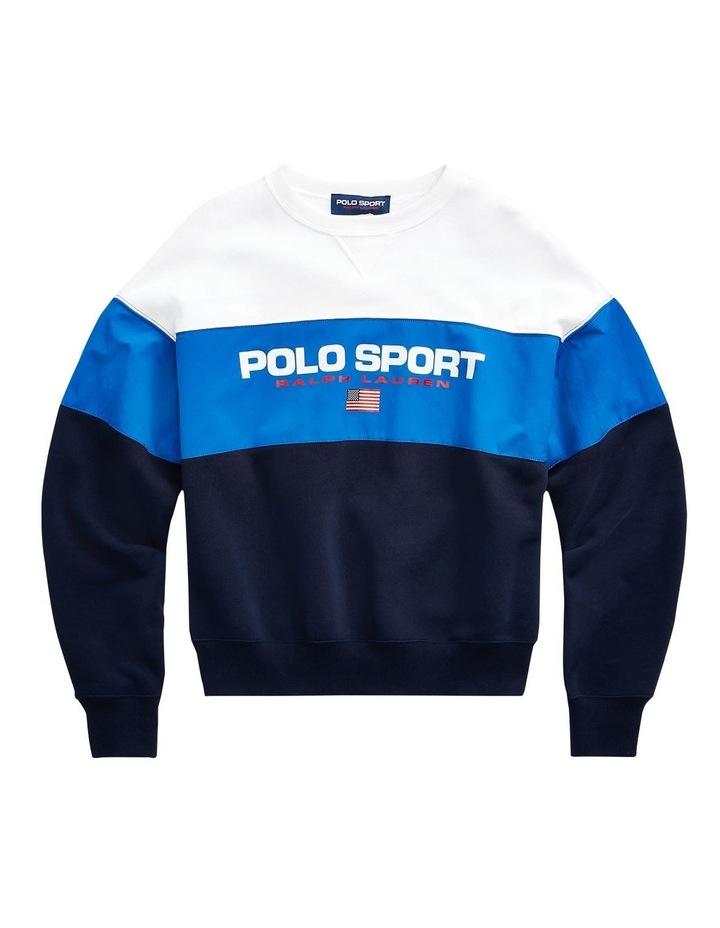 Color-Blocked Polo Sport Sweatshirt image 4