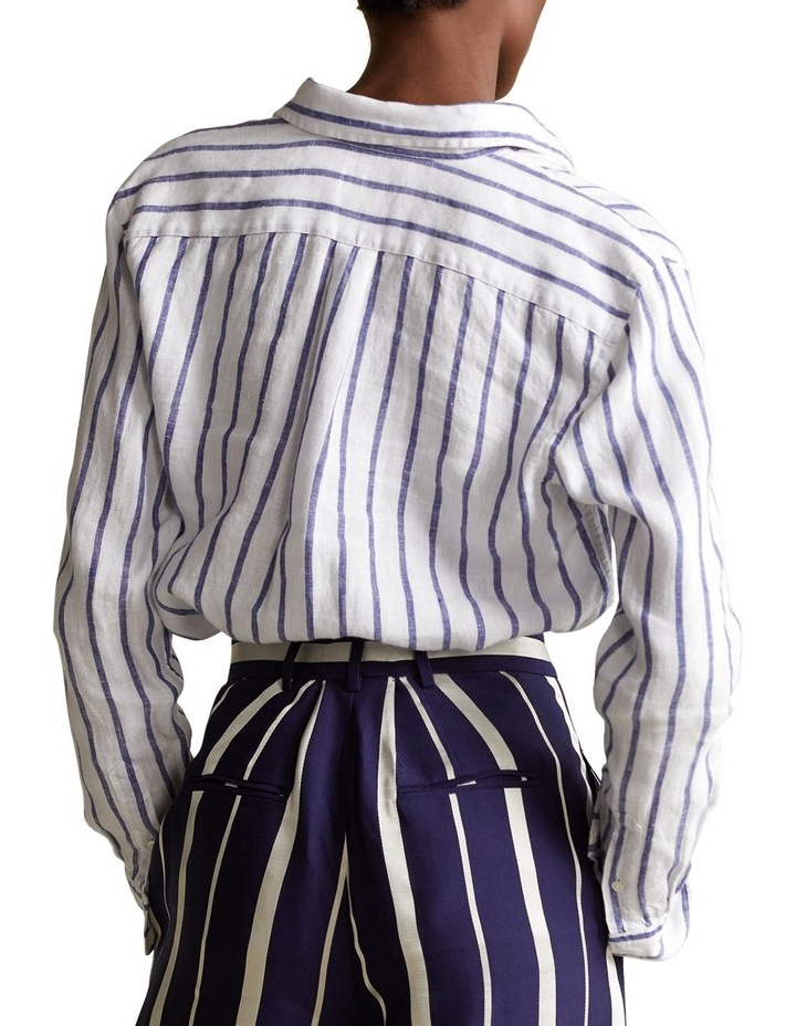 Relaxed Fit Striped Linen Shirt image 2