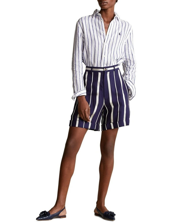 Relaxed Fit Striped Linen Shirt image 3