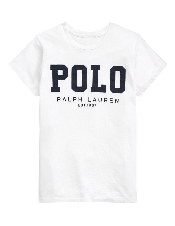 Polo Logo Cotton Jersey Tee image 3