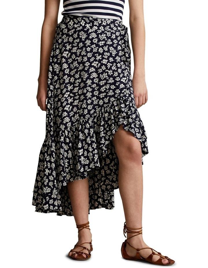 Floral Crepe Wrap Skirt image 1