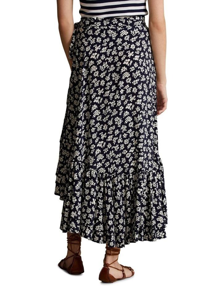 Floral Crepe Wrap Skirt image 2