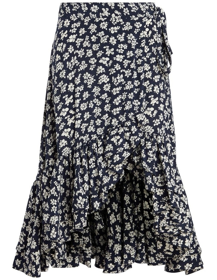 Floral Crepe Wrap Skirt image 4