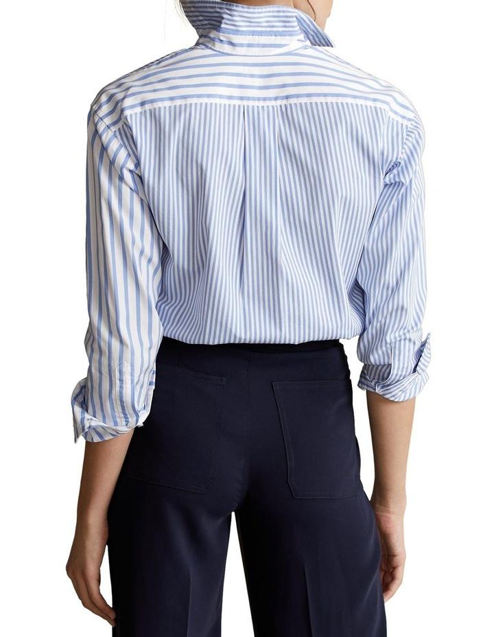 Striped Cotton High-Low Shirt image 2