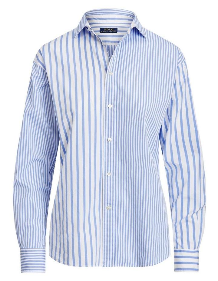 Striped Cotton High-Low Shirt image 4