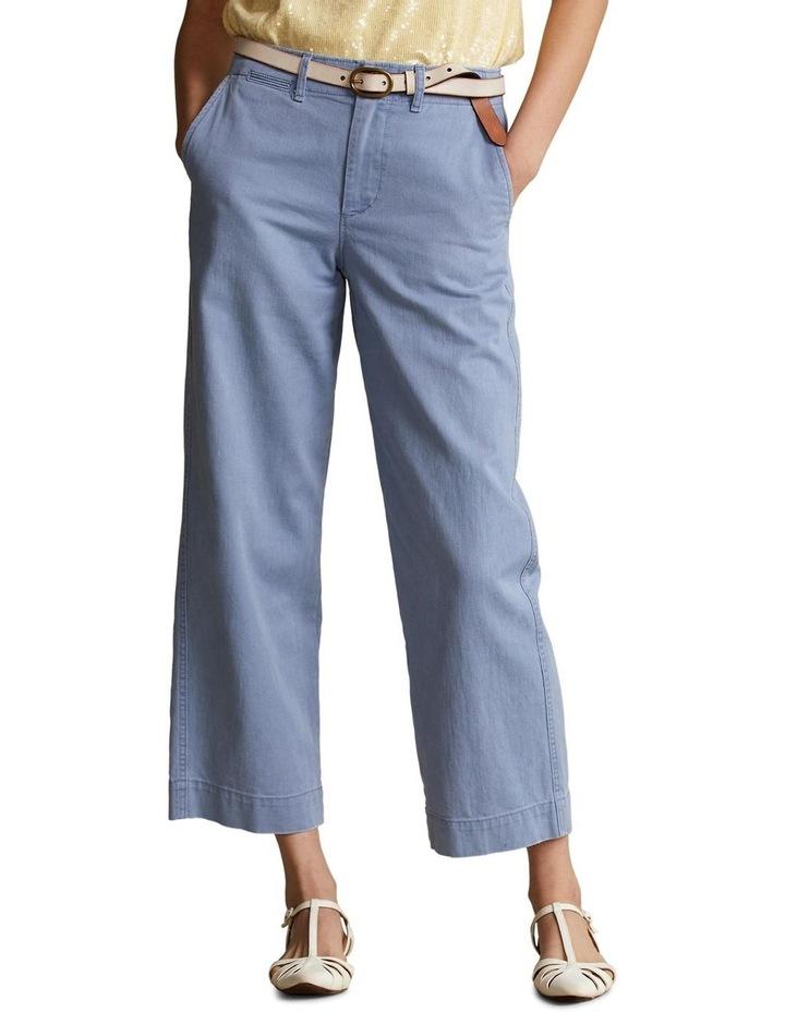 Cotton Twill Wide-Leg Pant image 1