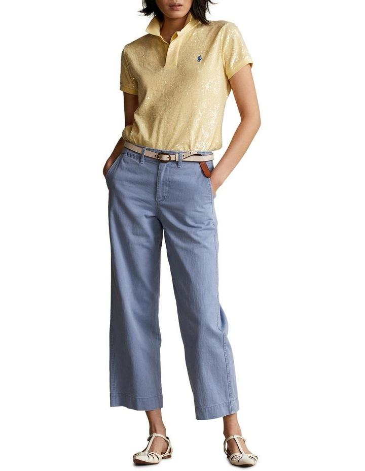 Cotton Twill Wide-Leg Pant image 3
