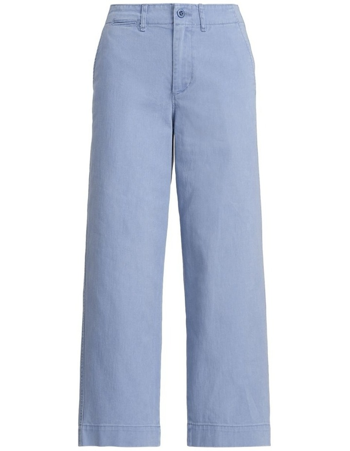 Cotton Twill Wide-Leg Pant image 4