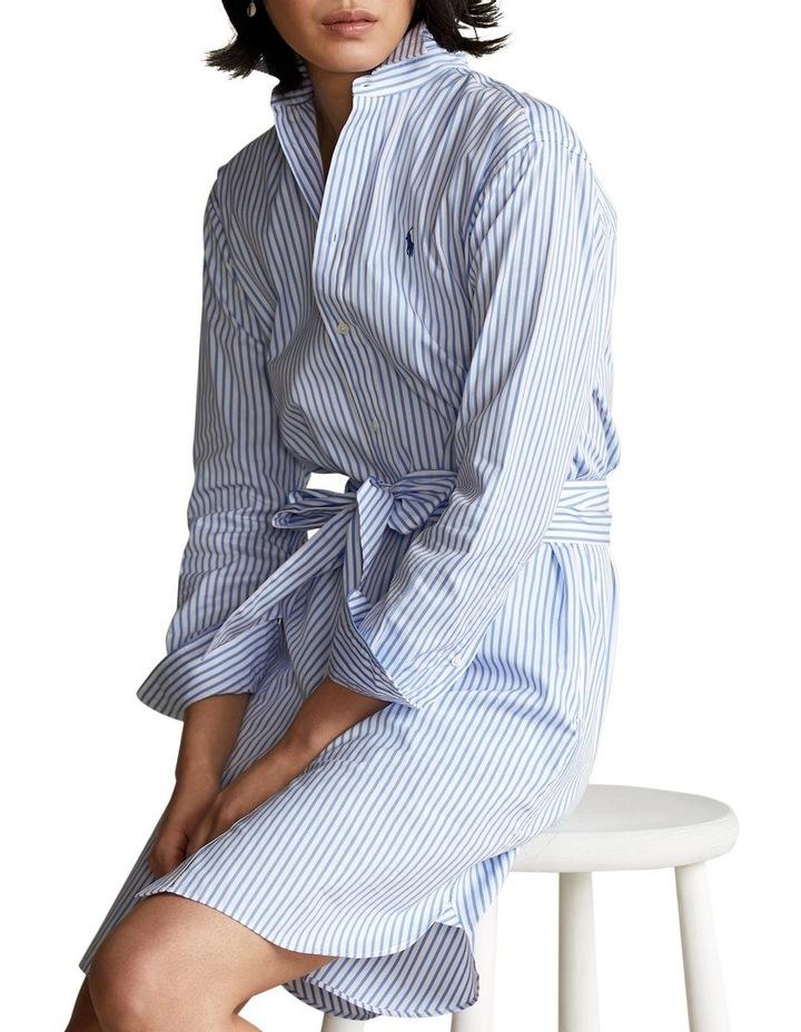 Striped Belted Shirtdress image 1
