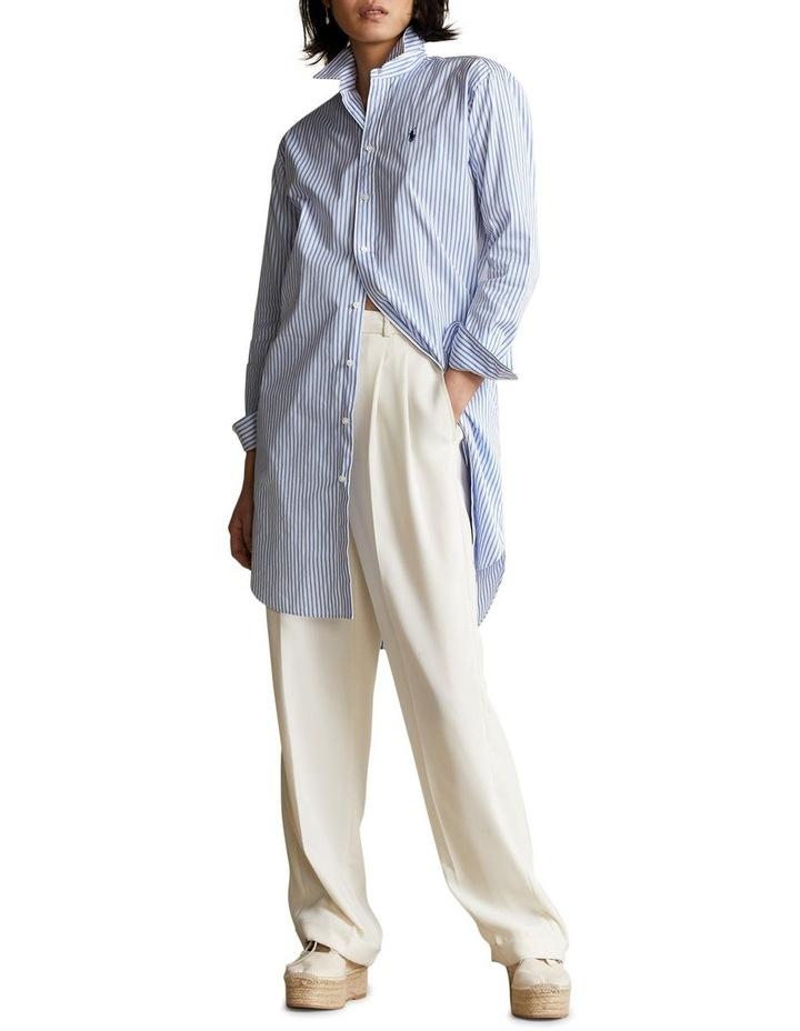 Striped Belted Shirtdress image 3