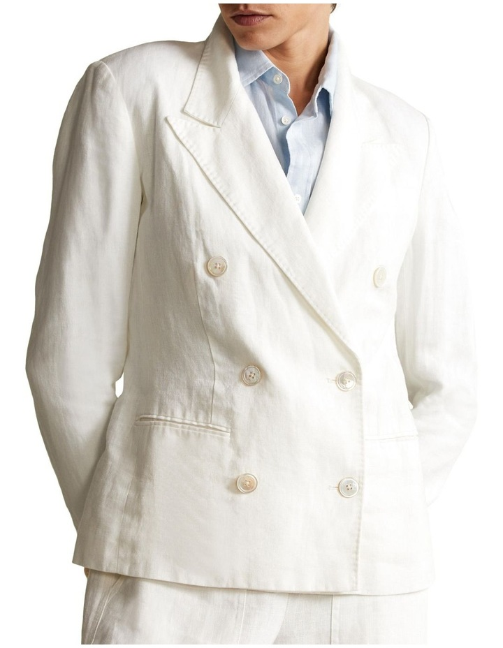 Double-Breasted Linen Blazer image 1