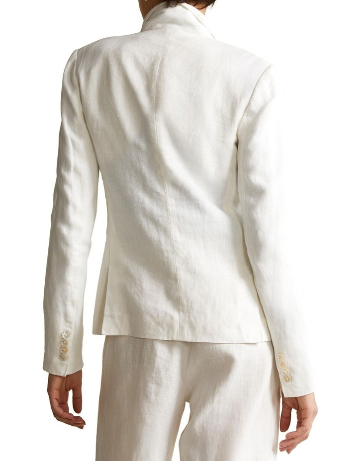 Double-Breasted Linen Blazer image 2