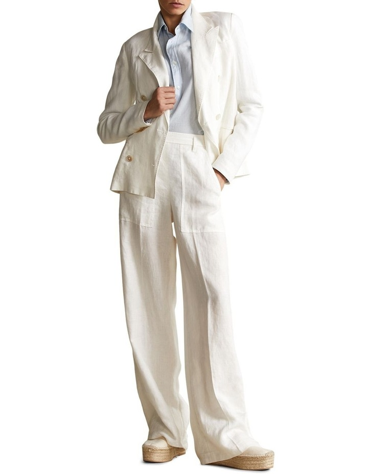 Double-Breasted Linen Blazer image 3