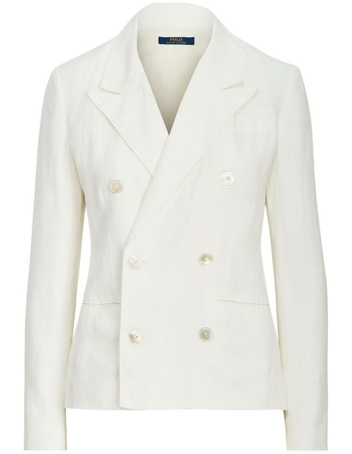 Double-Breasted Linen Blazer image 4