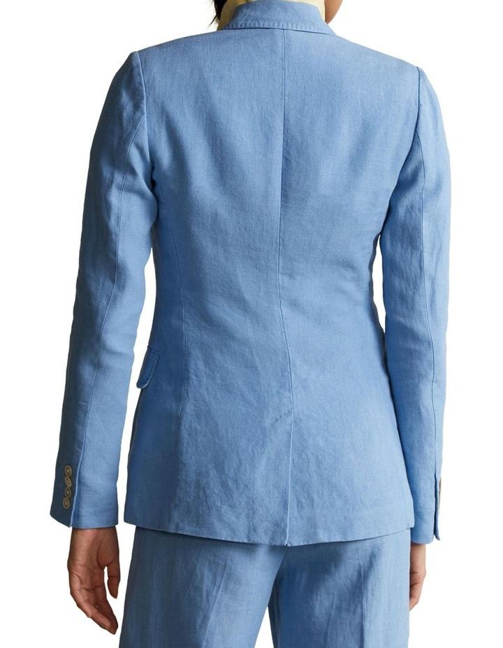 Single-Breasted Linen Blazer image 2