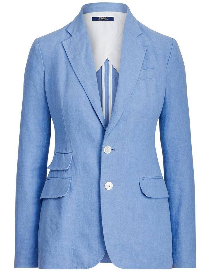 Single-Breasted Linen Blazer image 4