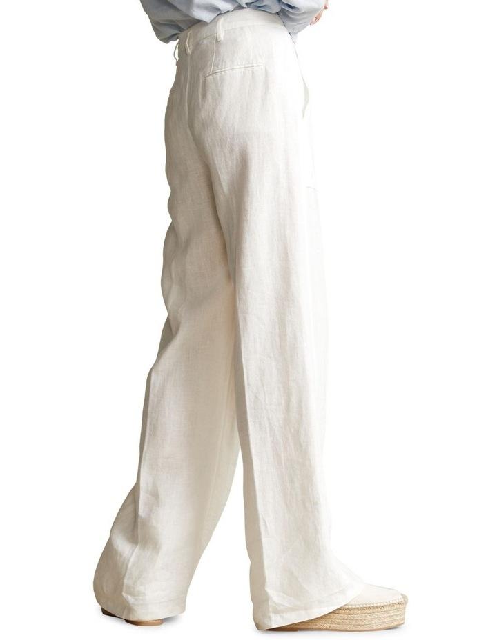 Buttoned-Placket Linen Pant image 2