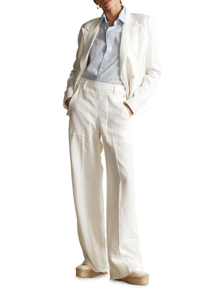Buttoned-Placket Linen Pant image 3
