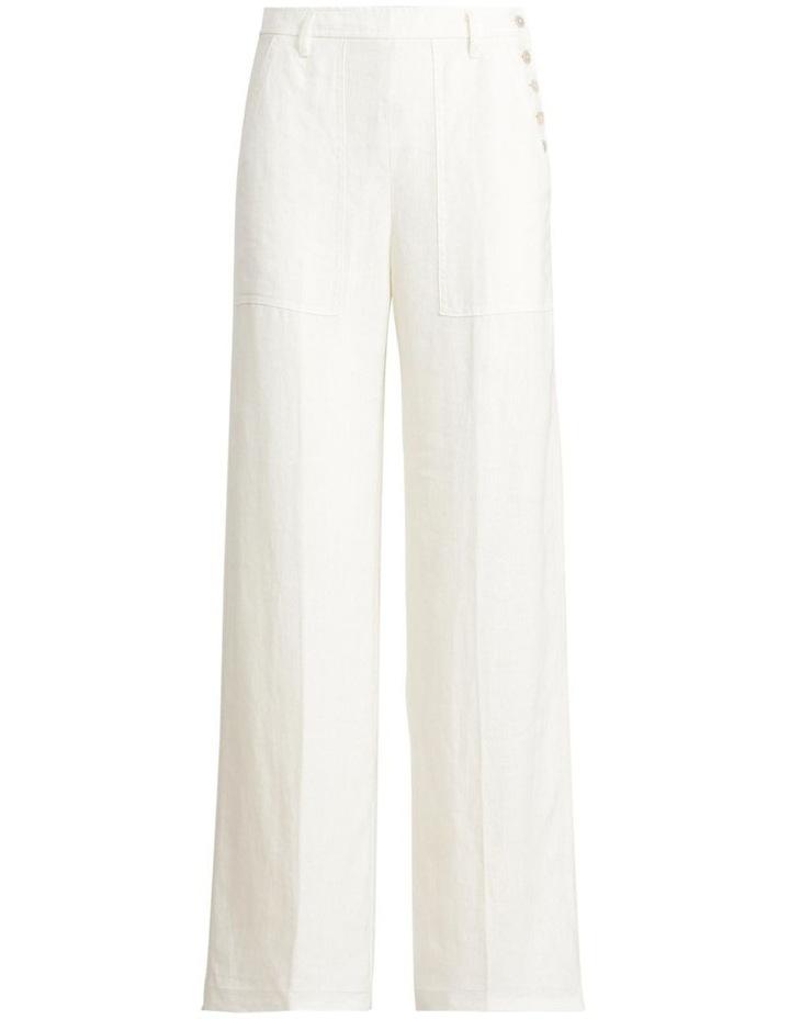 Buttoned-Placket Linen Pant image 4