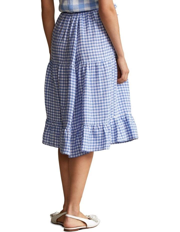 Gingham Linen Tiered Skirt image 2