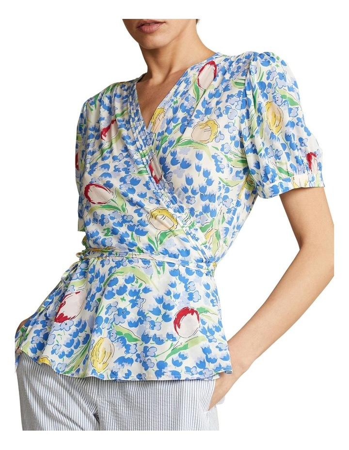 Floral-Print Wrap Blouse image 1