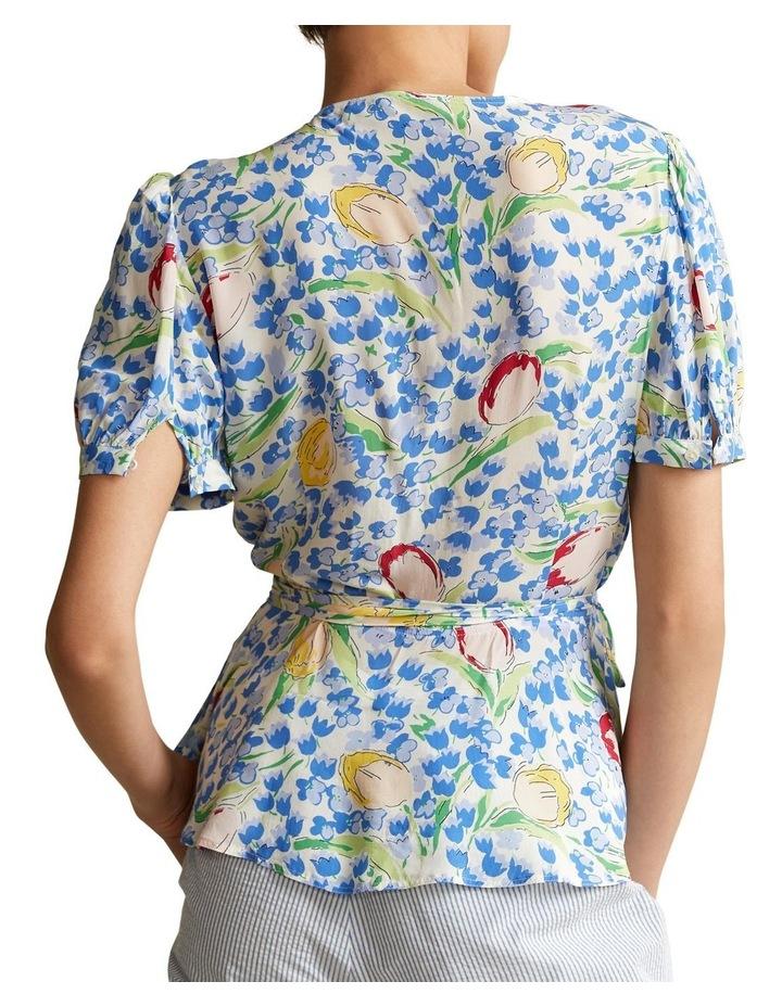 Floral-Print Wrap Blouse image 2