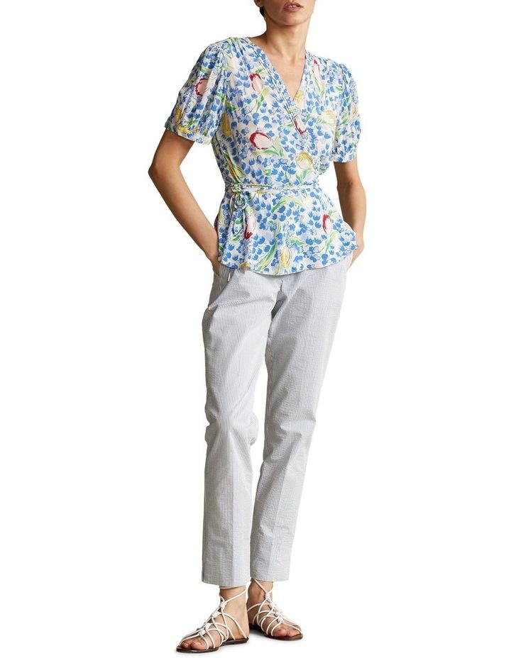 Floral-Print Wrap Blouse image 3