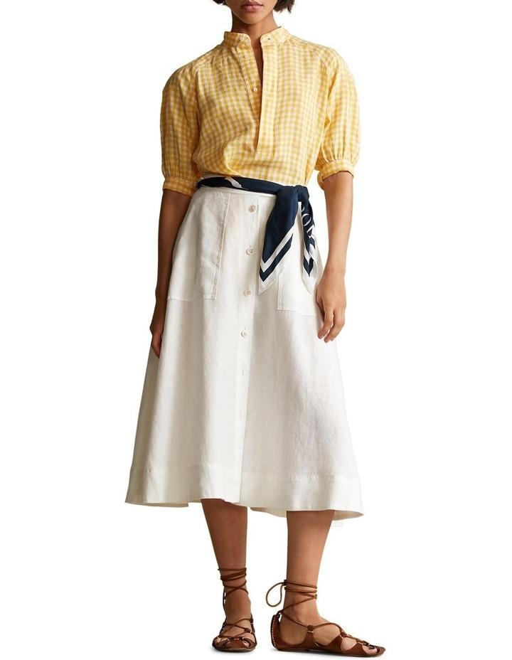 Gingham Linen Blouse image 3