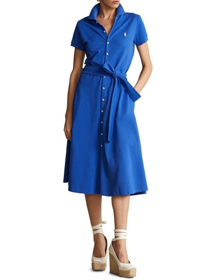 Pique A-Line Polo Dress image 3