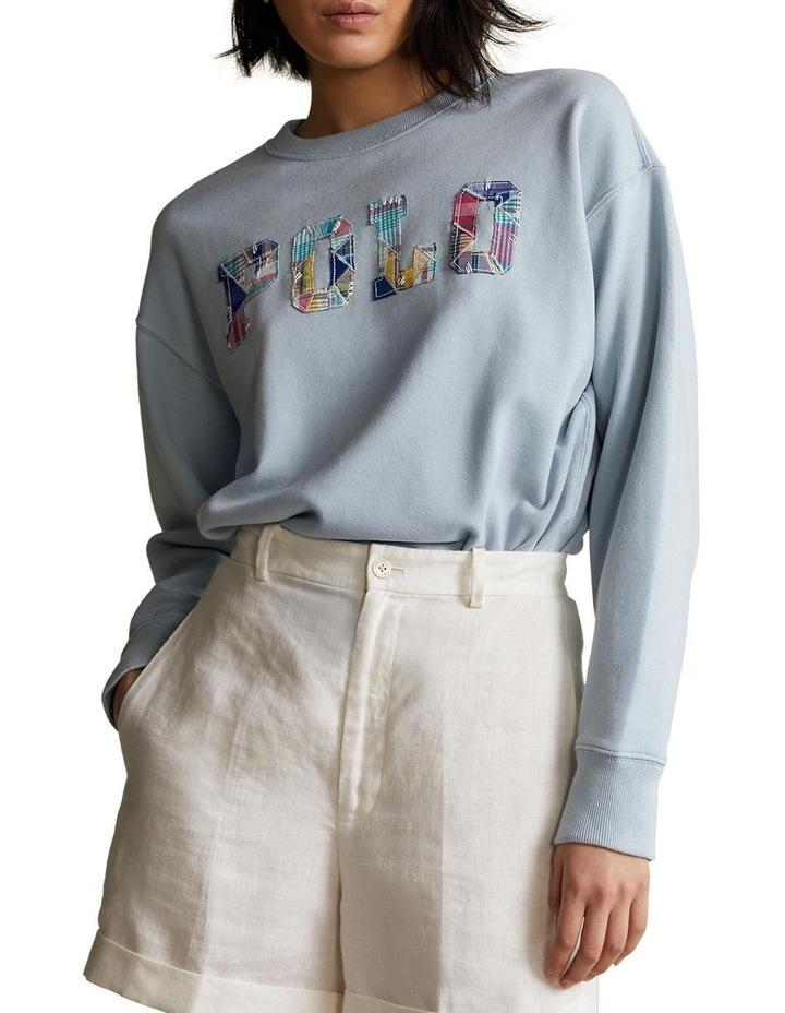 Patchwork Logo Fleece Sweatshirt image 1