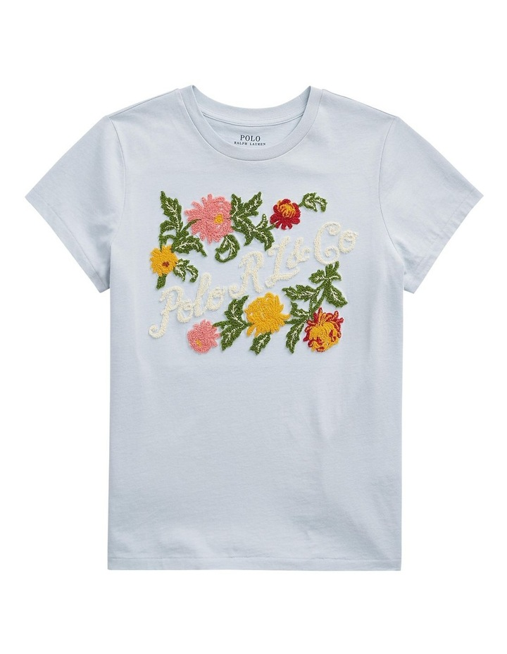 Embroidered Floral Jersey Tee image 4