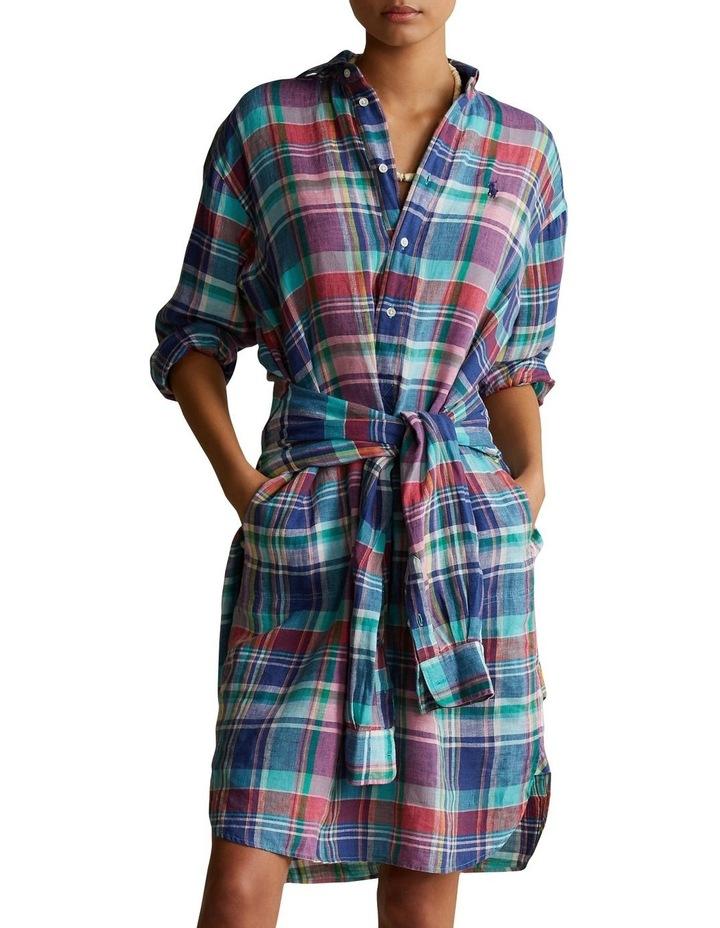 Plaid Linen Shirtdress image 1