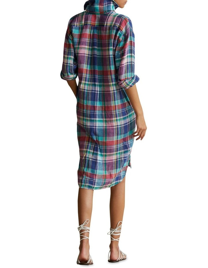 Plaid Linen Shirtdress image 2