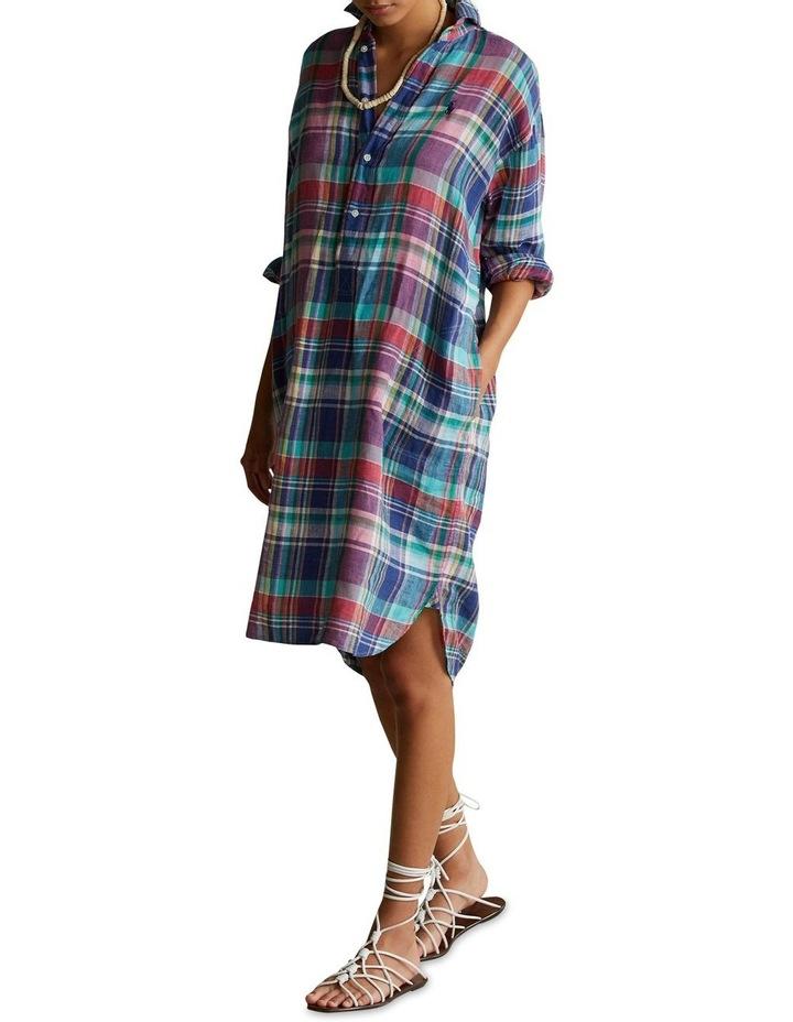 Plaid Linen Shirtdress image 3