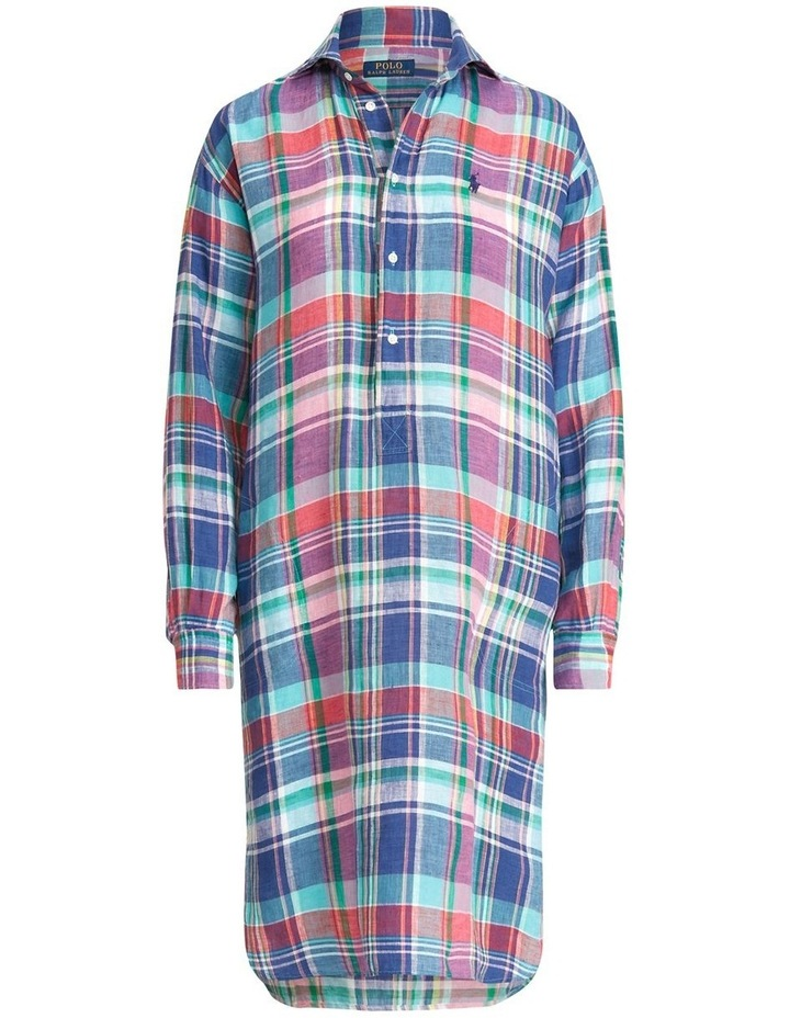 Plaid Linen Shirtdress image 4