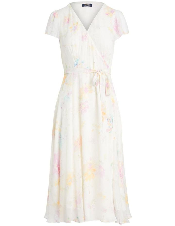 Floral Crinkled Wrap Dress image 1