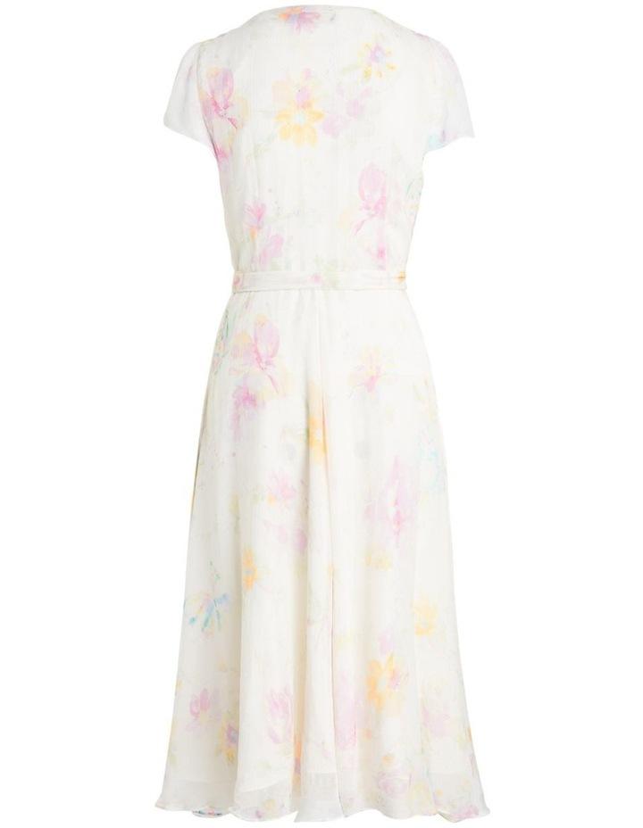 Floral Crinkled Wrap Dress image 2