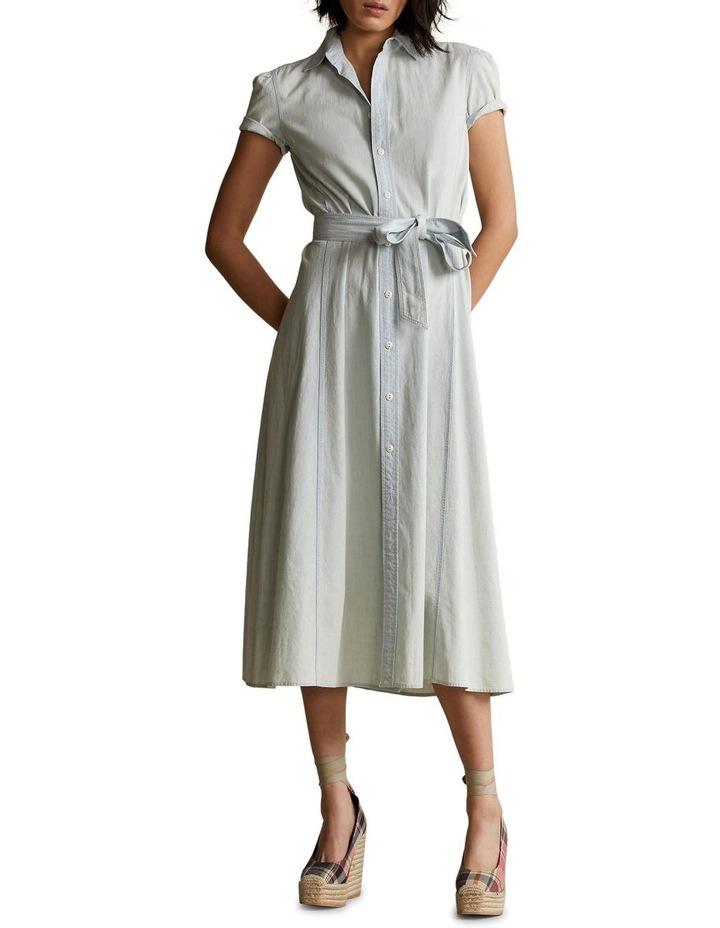 Cotton Chambray Shirtdress image 3