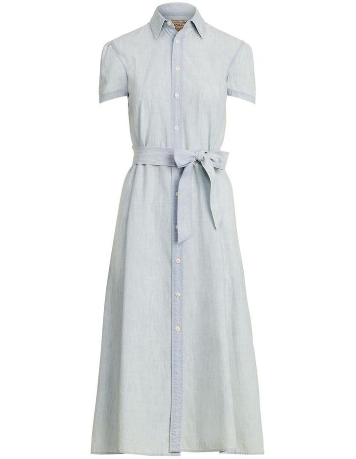 Cotton Chambray Shirtdress image 4