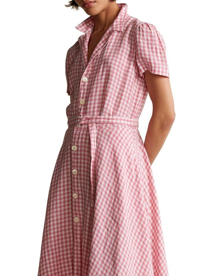 Gingham Linen Shirtdress image 1