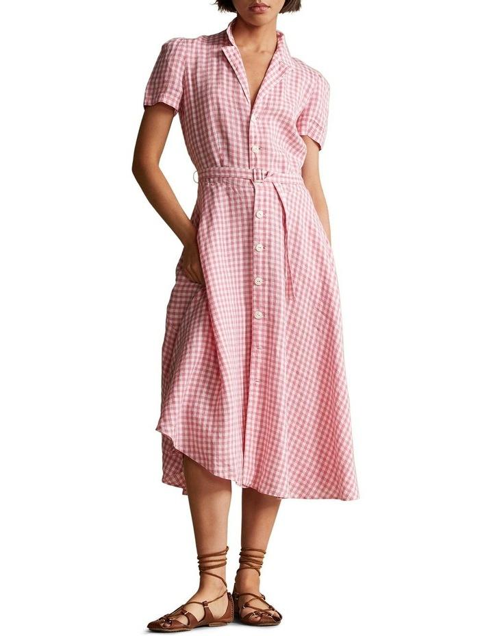 Gingham Linen Shirtdress image 3