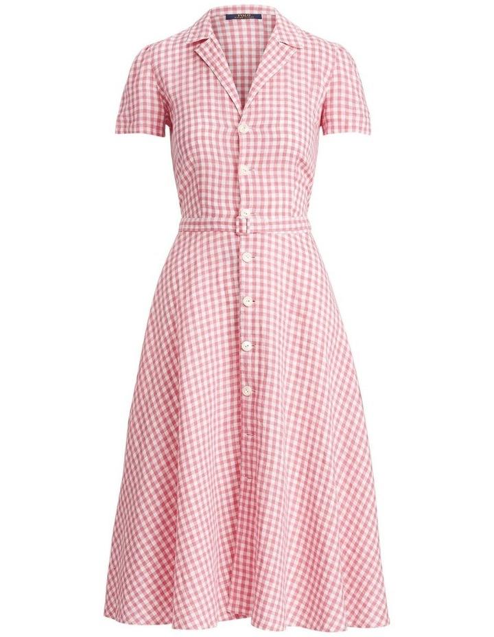 Gingham Linen Shirtdress image 4