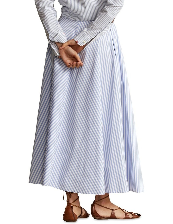 Striped Cotton A-Line Skirt image 2