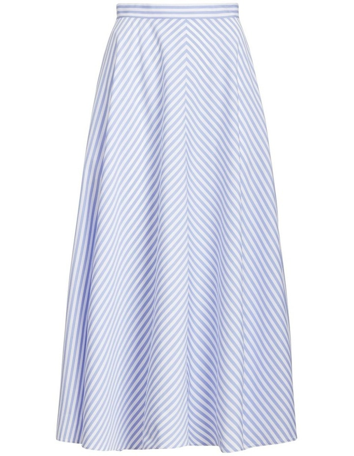 Striped Cotton A-Line Skirt image 4