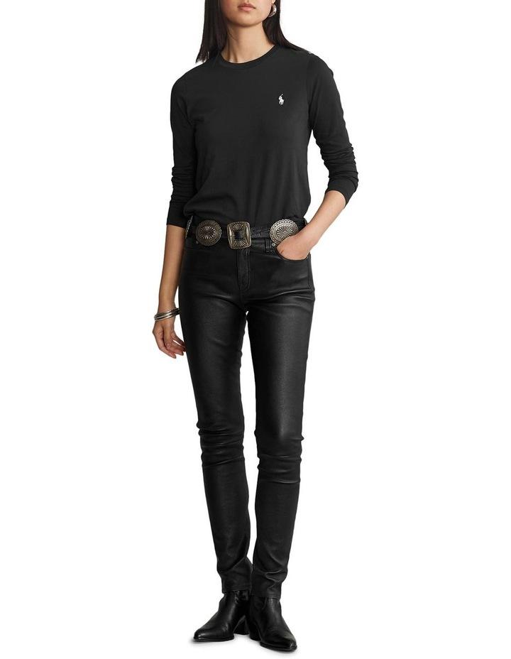Cotton Jersey Long-Sleeve Tee image 3