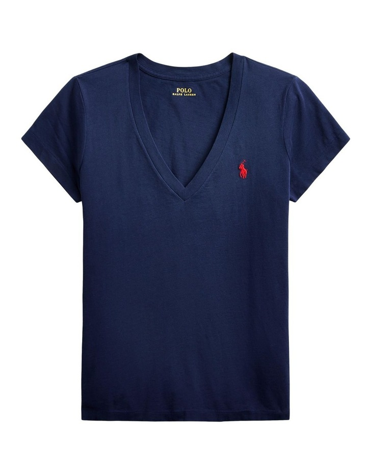 Cotton Jersey V-Neck Tee image 4